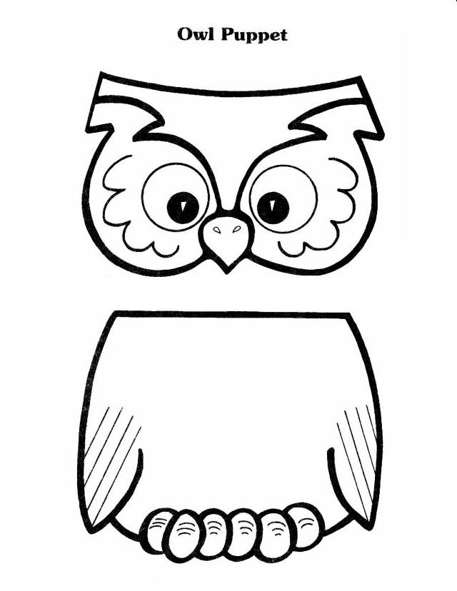 Owl Puppet Printable Free Here I Like To Glue A Poem On The Back Of All Our Puppets We Make Is Cute One Wise Old Lived In