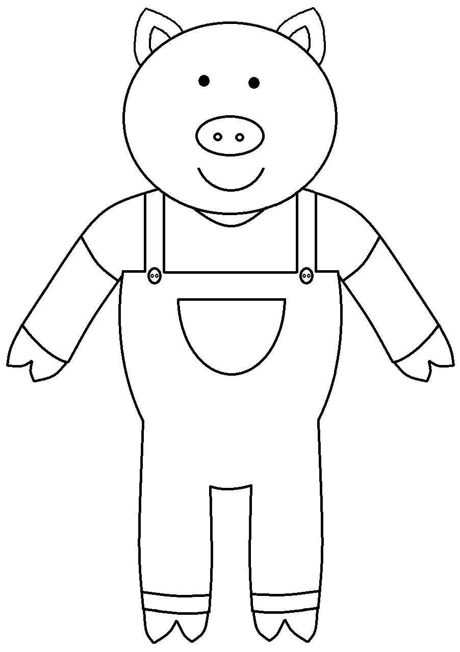 Three Little Pigs Clipart Black And White - WeSharePics