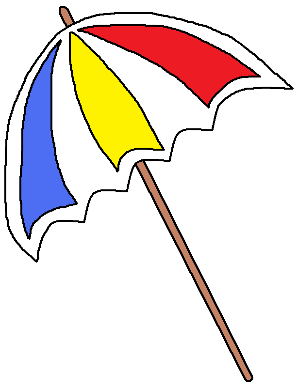 Umbrellas Beaches - CoolCLIPS Clip Art