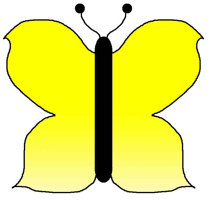Related Keywords & Suggestions for Yellow Butterfly Clipart