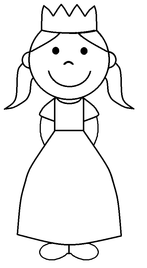 Clip Art Princess Black And White Halloween kids