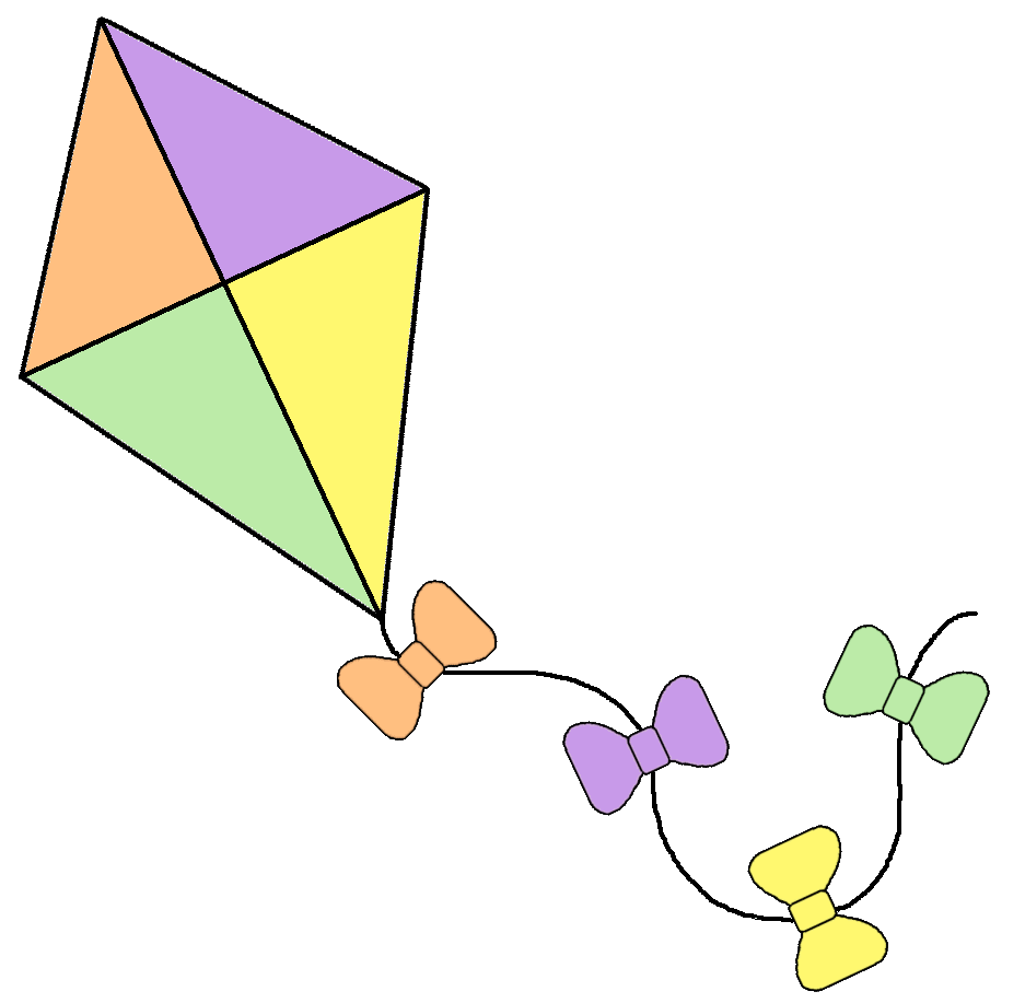 clipart kite flying - photo #8