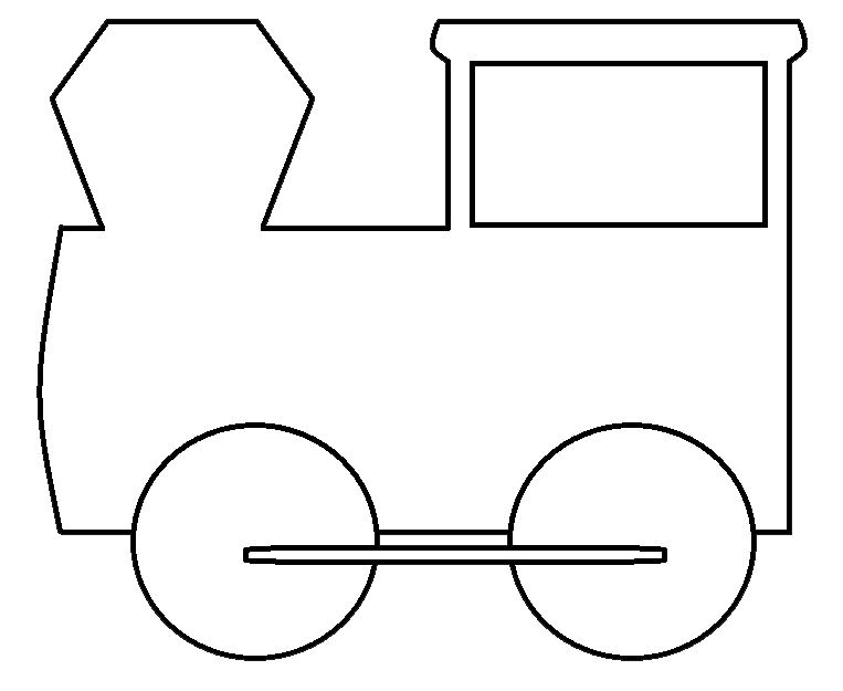 electric train clipart black and white - photo #35
