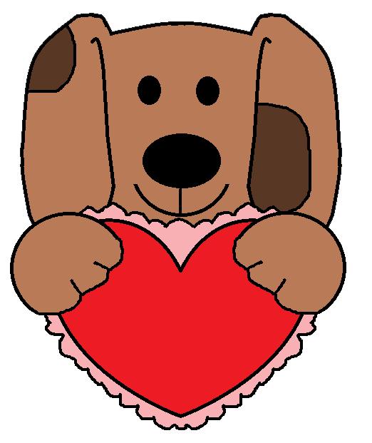 valentine puppy clipart - photo #14