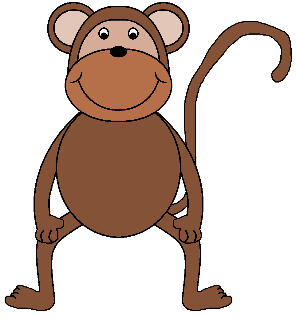 Monkey Clip Art Monkey Clip Art 165 Jpg Pictures to pin on Pinterest